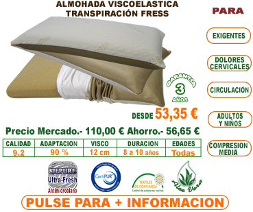 almohadas viscoelásticas transpirables